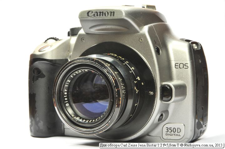 Carl Zeiss Jena Biotar 2/58 на современной камере