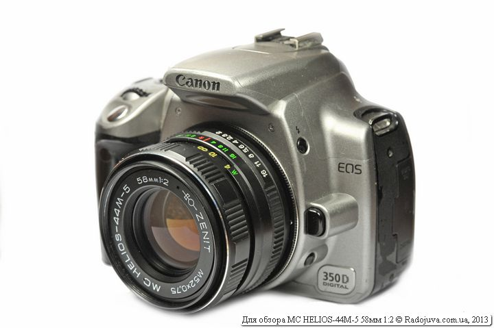 Вид объектива MC HELIOS-44M-5 58мм 1:2 на цифровой камере