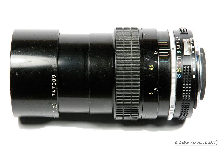 Вид объектива Nikon 135mm F2.8 K, AI