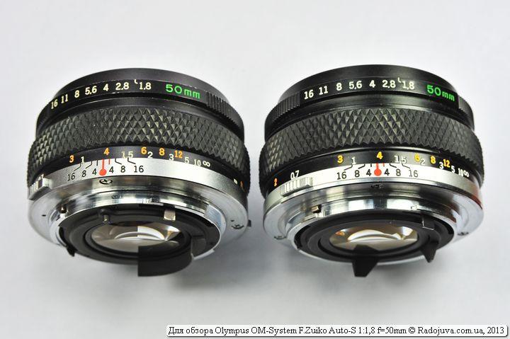 Маленькое различие объективов Zuiko 50 1,8
