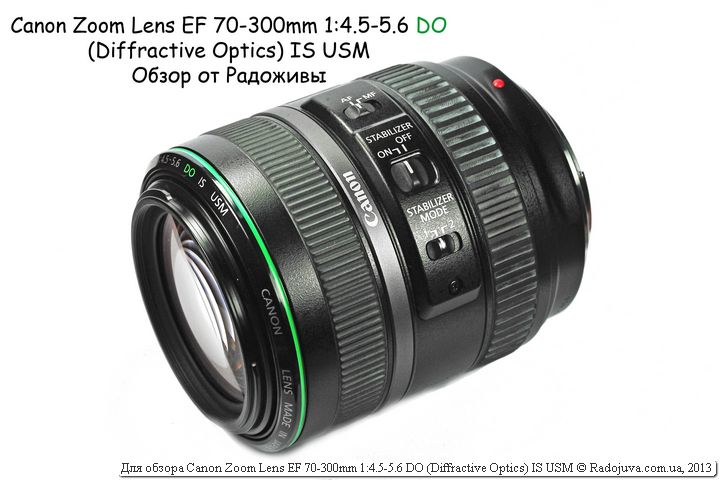 Canon Zoom Lens EF 70-300mm 1:4.5-5.6 DO (Diffractive Optics) IS USM