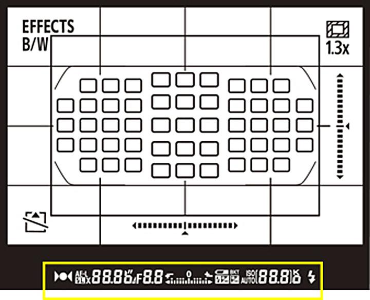 Желтым показаны индикаторы нового типа на основе EL