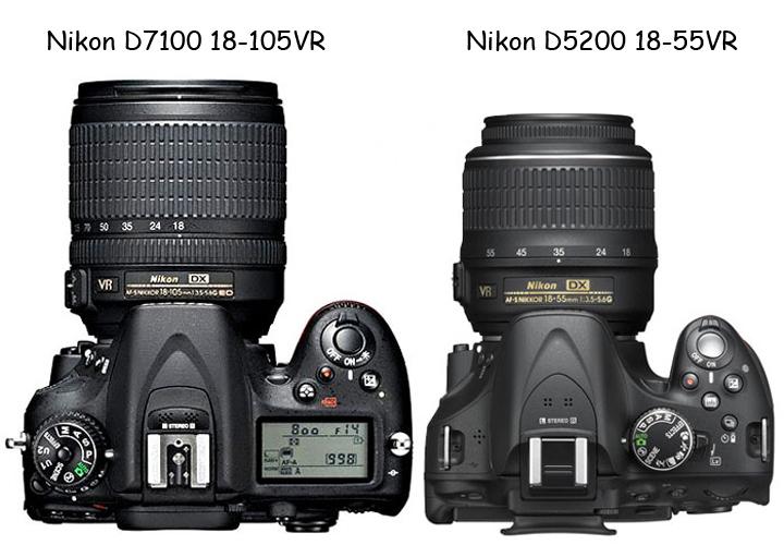 Так выглядят две камеры - Nikon D7100, Nikon D5200