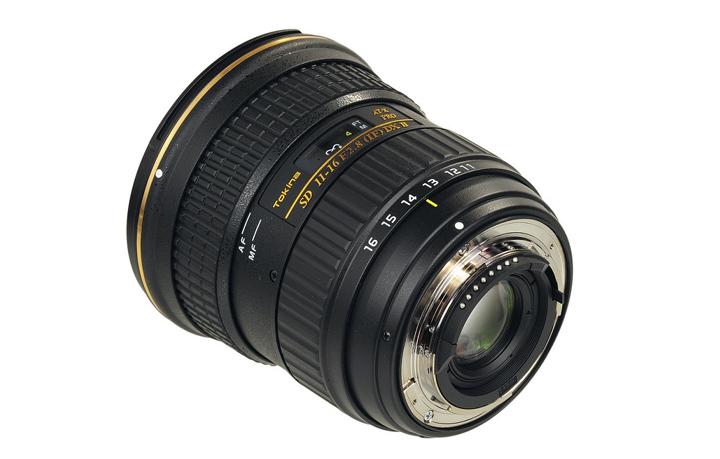 Tokina 11-16mm DX II - вид сзади