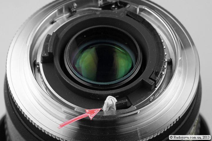 Блокировка рычага управления диафрагмой для объектива G-типа