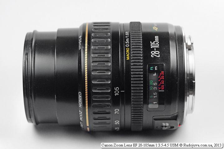 Вид сбоку Canon Zoom Lens EF 28-105mm 1:3.5-4.5 USM