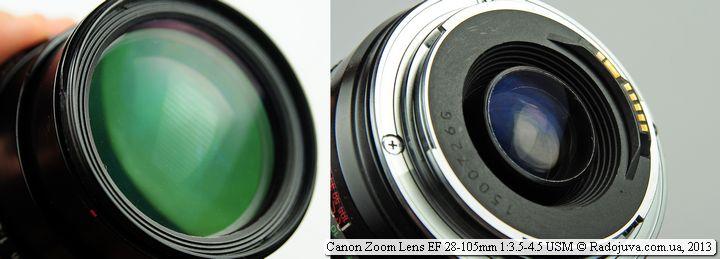 Просветление передней и задней линзы Canon EF 28-105mm f/3.5-4.5 USM