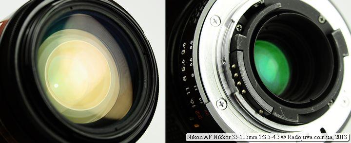 Просветление передней и задней линзы Nikon 35-105 3.5-4.5