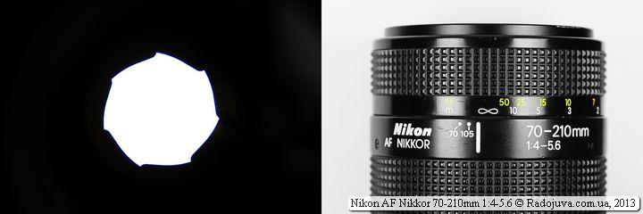 Отверстие диафрагмы объектива Nikon AF Nikkor 70-210mm F4-5.6