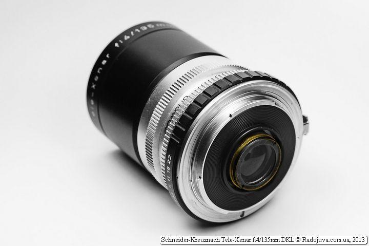 Вид объектива Tele-Xenar сзади