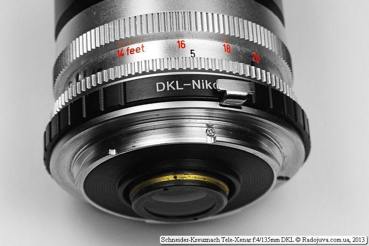 Переходник DKL - Nikon на объектива Tele-Xenar