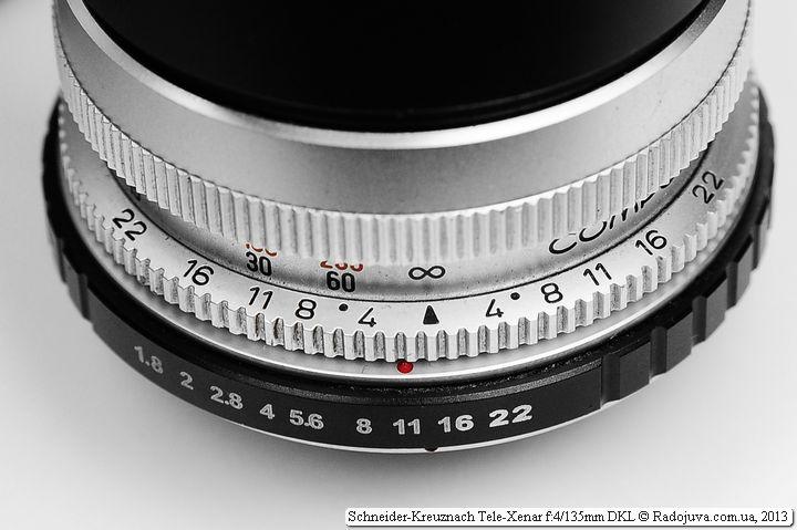 Шкала Tele-Xenar на объективе