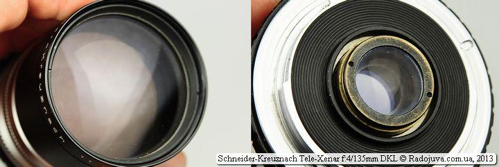 Просветление передней и задней линзы Schneider 135 4