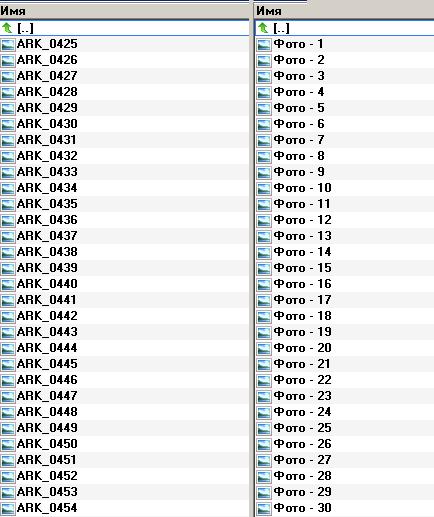 Обычная и модернизированная нумерация файлов фотографий