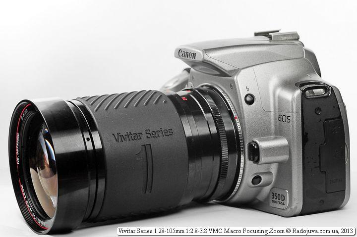 Вид объектива Vivitar 28-105mm F/2.8-3.8