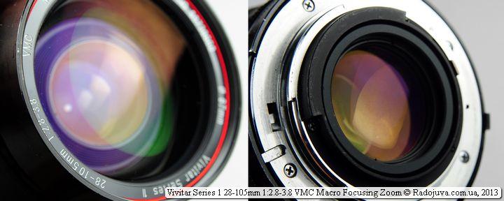 Просветление линз объектива Vivitar 28-105mm F/2.8-3.8