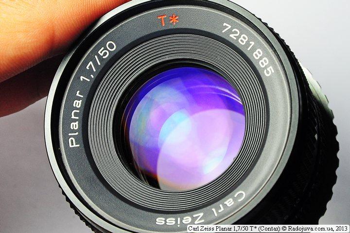 Просветление передней линзы Carl Zeiss Planar F 1,7 50 mm T* (Contax)