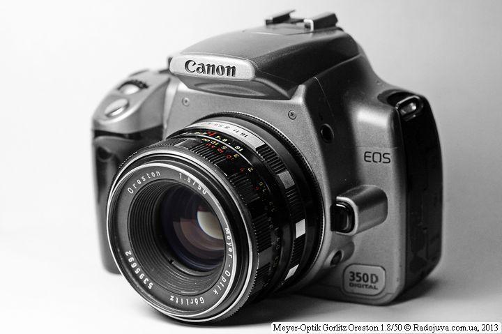 Вид объектива на современной камере