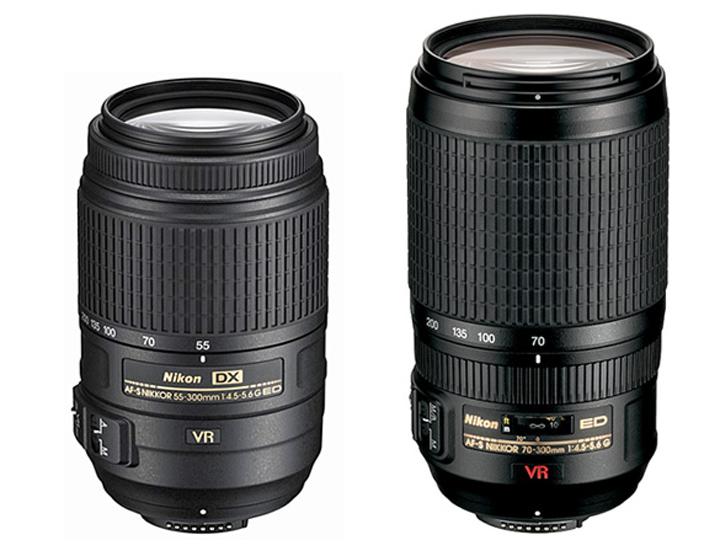 Nikon 55-300 VR DX и Nikon 70-300VR