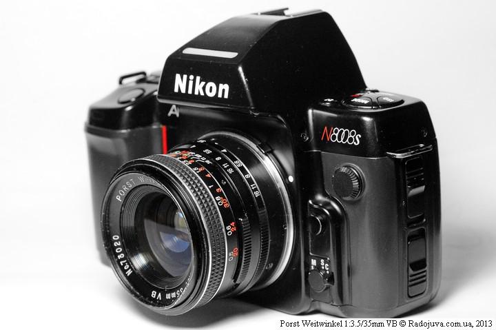 Porst Weitwinkel 1:3.5/35mm VB на пленочной камере Nikon AF N8008s