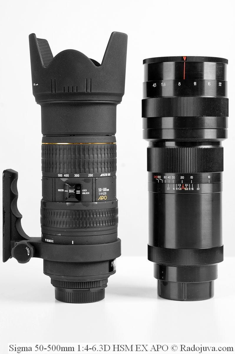 Sigma 50-500mm 1:4-6.3D HSM EX APO и Таир-33