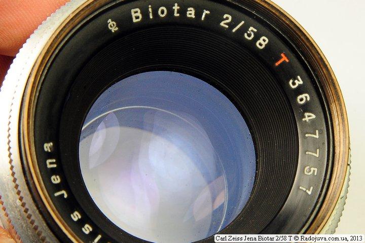 Просветление объектива Carl Zeiss Jena Biotar 2/58 T