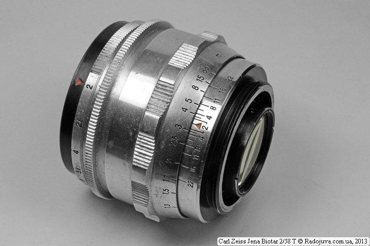 Вид объектива Carl Zeiss Jena Biotar 2/58 T сзади