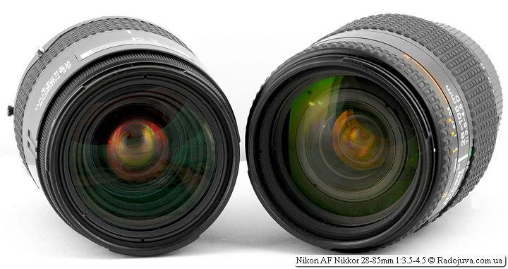 Nikon AF Nikkor 28-85mm 1:3.5-4.5 и Nikon AF Nikkor 28-105mm 1:3.5-4.5D