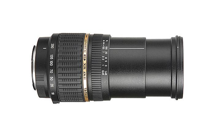 Tamron AF 18-200mm f/3.5-6.3 на 200мм