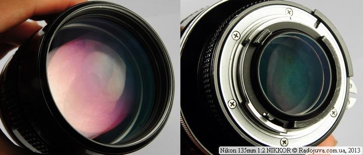 Просветление передней и задней линзы объектива Nikon 135mm F2 NIKKOR