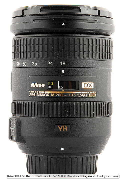 Nikon DX AF-S Nikkor 18-200mm 1:3.5-5.6GII ED SWM VR IF Aspherical с крышками
