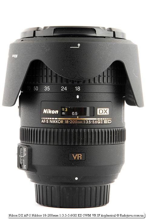 Nikon DX AF-S Nikkor 18-200mm 1:3.5-5.6GII ED SWM VR IF Aspherical с родной блендой Nikon DB-35