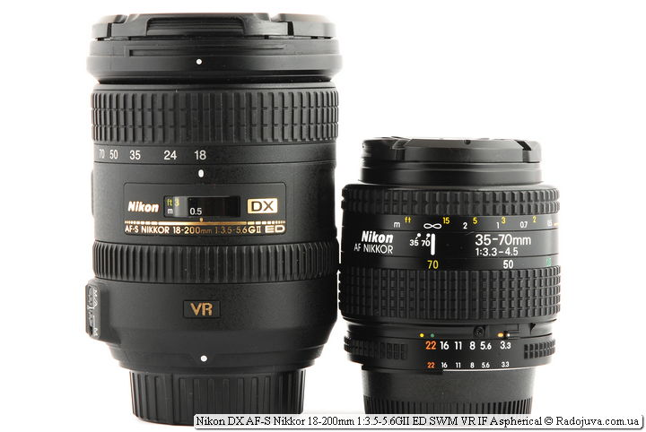 Nikon 18-300mm f/3.5-5.6G ED VR AF-S Nikkor и Nikon AF Nikkor 35-70mm 1:3.3-4.5 (MKII)