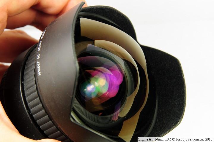 Передняя выпуклая линза Sigma AF 14mm 1:3.5