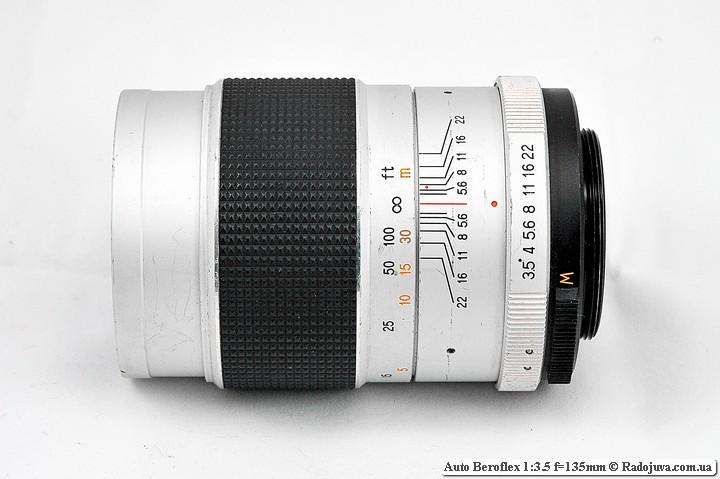 Вид сбоку Auto Beroflex 1:3.5 f=135mm