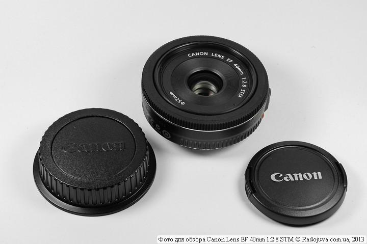 Canon EF 40mm f/2.8 STM всего лишь чуть-чуть больше свеой з адней крышки