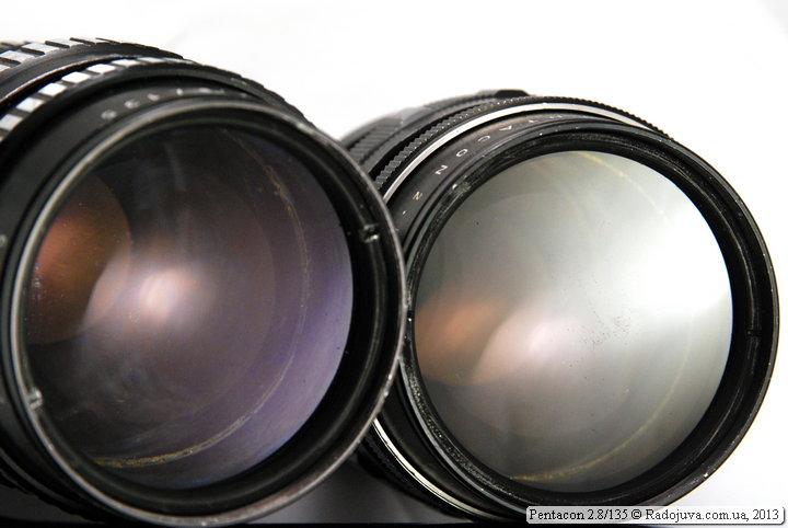 Разное просветление объективов. Слева - зебра, справа - черный.