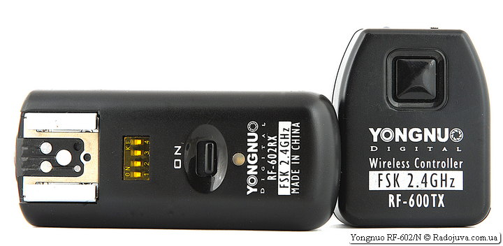 Передатчик Yongnuo Digital Wireless Controller FSK 2.4GHz RF-600TX и приемник Yongnuo Digital FSK 2.4GHz RF-602RX