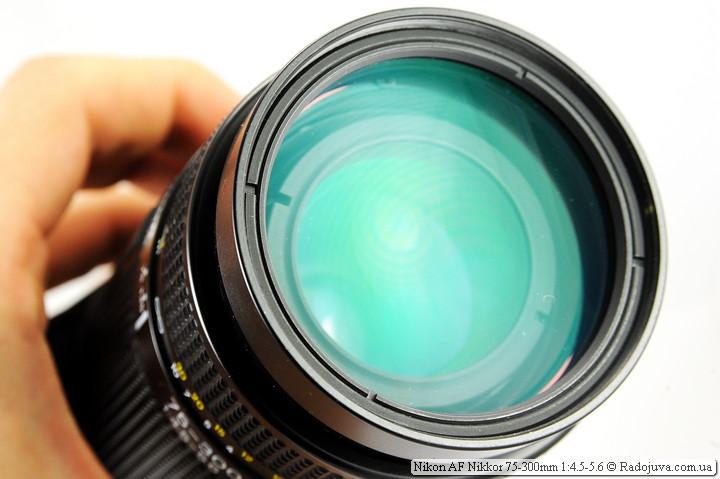 Вид объектива Nikon AF Nikkor 75-300mm 1:4.5-5.6