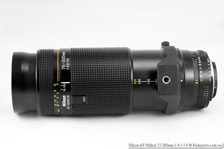 Длина Nikon AF Nikkor 75-300mm 1:4.5-5.6