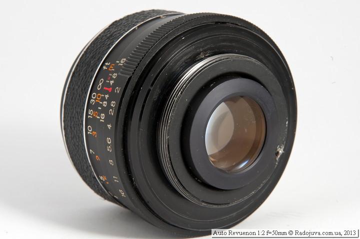 Вид сзади Auto Revuenon 1:2 f=50mm