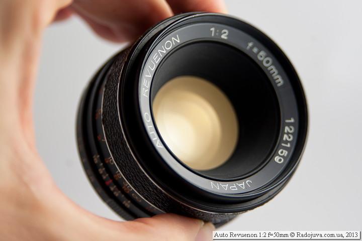 Просветление передней линзы Auto Revuenon 1:2 f=50mm