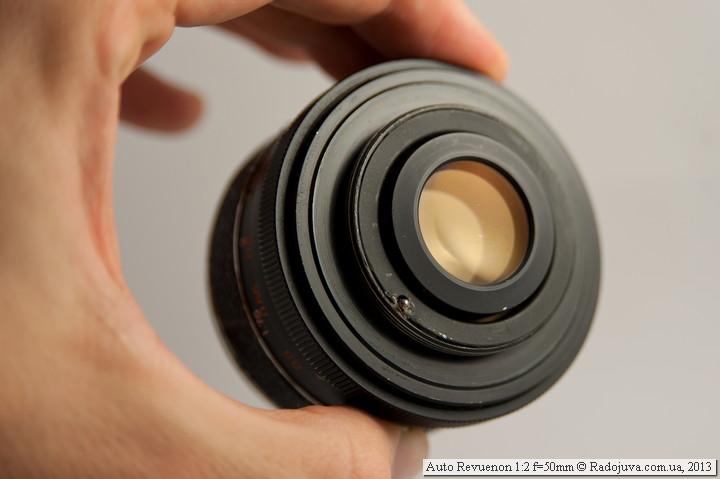 Просветление задней линзы Auto Revuenon 1:2 f=50mm