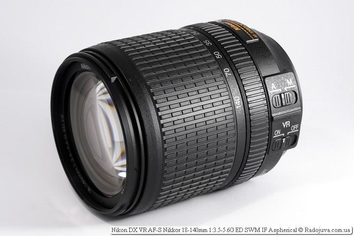 Вид сбоку Nikon 18-140mm VR