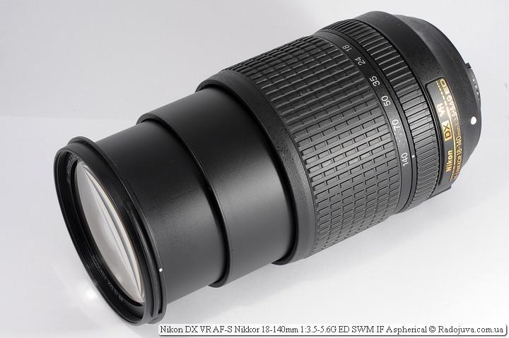 Вид Nikon 18-140mm VR на 140мм