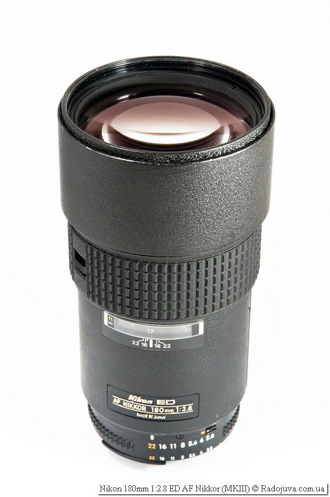 Вид Nikon 180mm 1:2.8 ED AF Nikkor MKIII