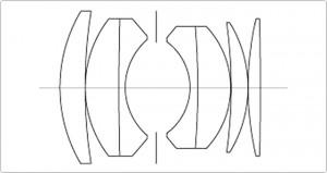 Оптическая схема Nikon Nikkor-S.C Auto 1:1.4 f=50mm