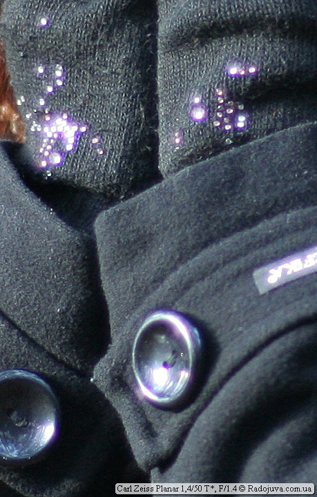 Кроп 1 к 1, фиолетовая окантовка контрастных предметов