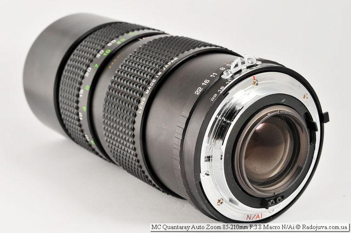 MC Quantaray Auto Zoom 85-210mm F:3.8 Macro N/Ai