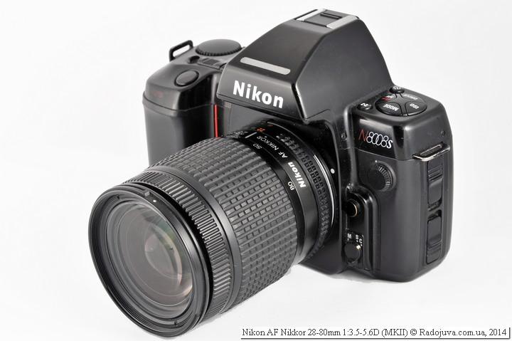 Вид Nikon AF Nikkor 28-80mm 1:3.5-5.6D на зеркальной камере